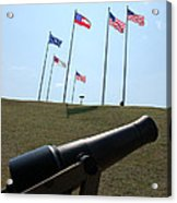 Cannon At Fort Sumter Acrylic Print