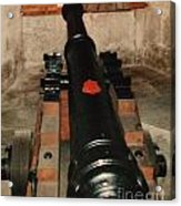 Cannon At Pendennis Castle Acrylic Print