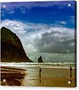 Cannon Beach At Dusk II Acrylic Print