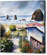 Cannon Beach Cottage Acrylic Print