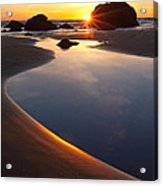 Cannon Beach Sunset Vertical Acrylic Print