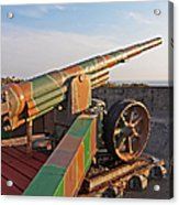 Cannon In Fortress Acrylic Print