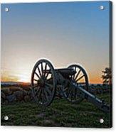 Cannon On Cemetery Ridge Gettysburg Acrylic Print