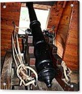 Cannon On Sailship Acrylic Print