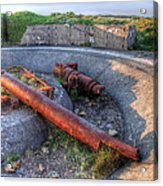 Cannon Remains From Ww2 Acrylic Print