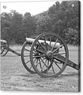 Cannons On Manassas Battlefield Acrylic Print