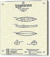 Canoe 1963 Patent Art Acrylic Print