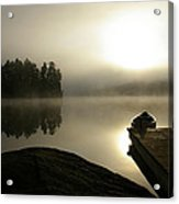 Canoe At Sunrise Acrylic Print