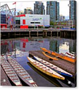 Canoe Club And Telus World Of Science In Vancouver Acrylic Print
