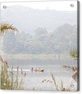 Canoe Commute Acrylic Print