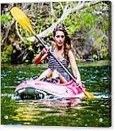 Canoe For Girls Acrylic Print