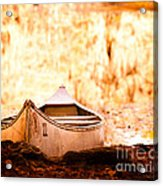 Canoe On Caddo Lake Acrylic Print by Sonja Quintero