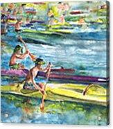 Canoe Race In Polynesia Acrylic Print