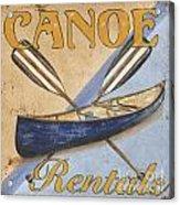 Canoe Rentals Acrylic Print