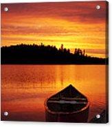 Canoe Sunset Acrylic Print