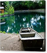 Canoeing Acrylic Print