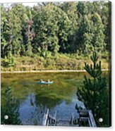 Canoeing Michigan's Au Sable Acrylic Print