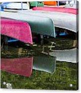 canoes - Lake Wingra - Madison  Acrylic Print