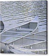Canoes Waiting Acrylic Print