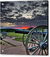 Canon Over Gettysburg Acrylic Print by Andres Leon