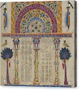 Canon Table Page Toros Roslin, Armenian Acrylic Print