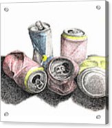 Cans Sketch Acrylic Print