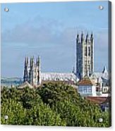 Canterbury Cathedral From Dane John Mound Acrylic Print