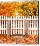 Canterbury Shaker Village Picket Fence  Acrylic Print