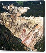 Canyon And Yellowstone Falls Acrylic Print