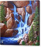 Canyon Cascade Acrylic Print