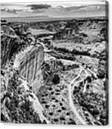 Canyon De Chelly Navajo Nation Chinle Arizona Black And White Acrylic Print