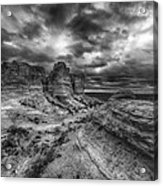 Canyon Light And Clouds Acrylic Print