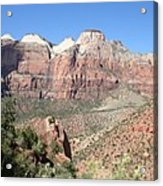 Canyon Overview Zion Park Acrylic Print