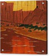 Canyon Reflection Acrylic Print