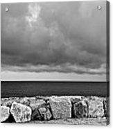 Caorle Dream Black And White Acrylic Print