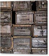 Cape Cod Cranberry Crates Acrylic Print