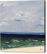 Cape Cod White Caps At Chapoquoit Beach Acrylic Print