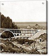 Cape Creek Bridge And Heceta Oregon Head Lighthouse  Circa1933 Acrylic Print