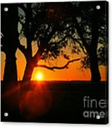 Cape Fear Sunset Acrylic Print