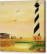 Cape Hatteras Light At Sunset Acrylic Print