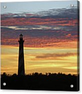 Cape Hatteras Lighthouse At Sunset Acrylic Print