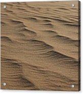 Cape Hatteras Ripples In The Sand-north Carolina Acrylic Print