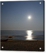 Cape May Beach In The Moonlight Acrylic Print