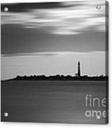 Cape May Lighthouse Long Exposure Bw Acrylic Print