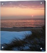 Cape May Twilight In February Acrylic Print