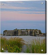 Cape May Wold War Two Concrete Bunker Acrylic Print
