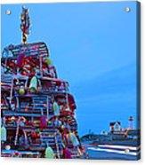 Cape Neddick Lighthouse Christmas Acrylic Print by Randy Duchaine