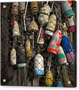 Cape Neddick Lobster Buoys Acrylic Print