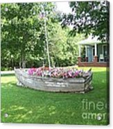 Cape Vincent Flowerboat Acrylic Print by Kevin Croitz