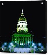 capital building in Topeka Kansas Acrylic Print